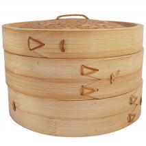 Vaporera bambú 2 pisos