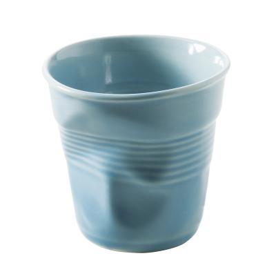 Taza espresso arrugada Revol 80 ml blue caribe