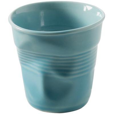 Taza capuccino arrugada 180 ml blue caribe