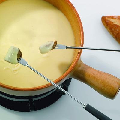 Set 6 tenedores fondue negro colores