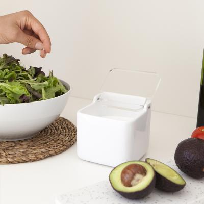 Salero de cocina con tapa transparente