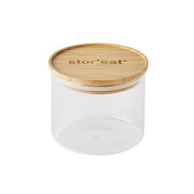 Bote de cocina Stor'eat cristal borosilicato tapa bambú