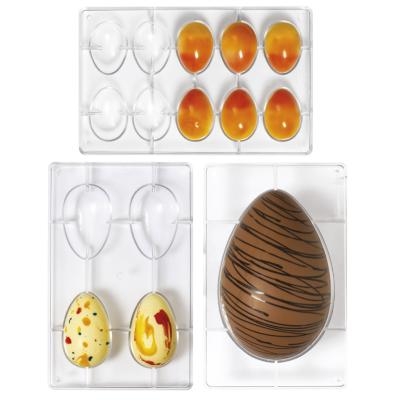 Molde policarbonato para chocolate Huevo x4