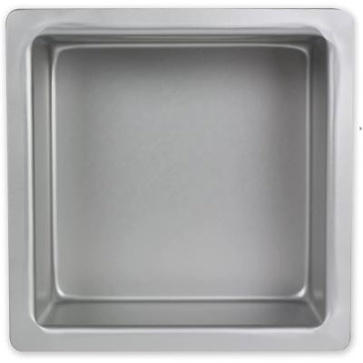 Molde cuadrado aluminio anodizado alto 20x20x10 cm