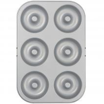 Molde antiadherente donut metálico 6 cav 7,5 cm