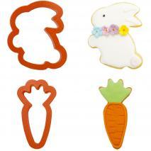 Set 2 talladors galetes plàstic Conill i Pastanaga