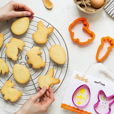 Set 2 cortadores galleta plástico Conejo Zanahoria