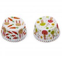 Papel cupcakes x36 Conejitos Pascua