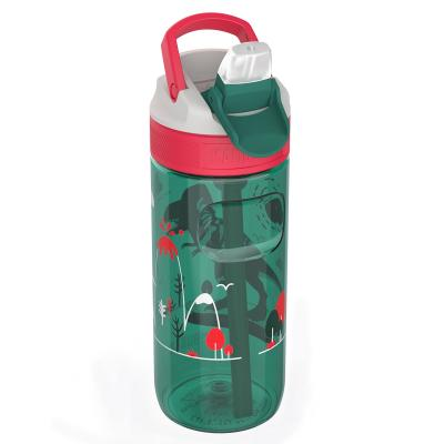 Botella de agua con pajita Lagoon 500 ml Dino