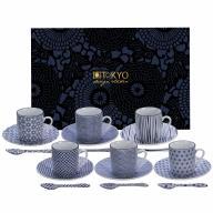 Set cafè Espresso Nippon blue 18 peces
