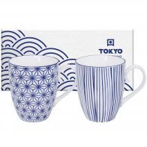 Set 2 Mug te japonès Nippon blue 380 ml