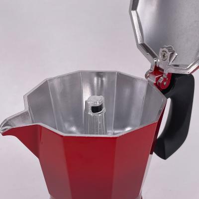 Cafetera Oroley inducción Petra 6 tazas rojo