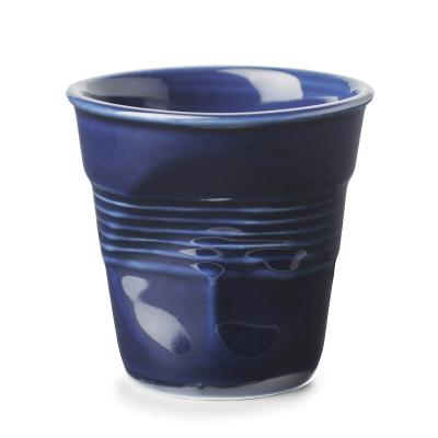 Taza espresso arrugada revol 80 ml azul indigo