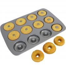 Motllo mini donut metàl·lic PME 12 cav.