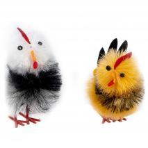 Gallo de colores Pascua 6,5 cm