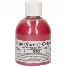 Sprinkles sucre 100 g vermell