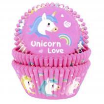 Papel cupcakes x50 Unicornio