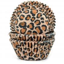 Papel cupcakes x50 Leopardo