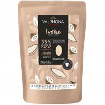 Cobertura xocolata blanca Valrhona Ivoire 35%250g
