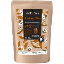 Cobertura chocolate leche Valrhona Caramelia36%250