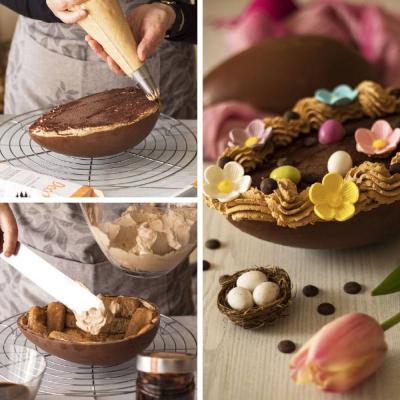 Molde policarbonato para chocolate Huevo 23x16,5