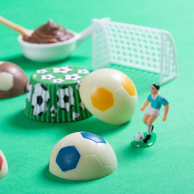 Molde policarbonato chocolate pelota fútbol 5cm