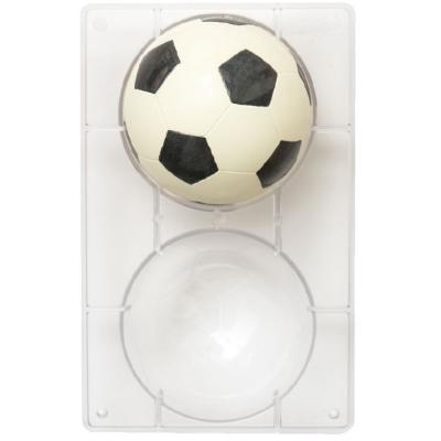 Molde policarbonato chocolate pelota fútbol 12 cm