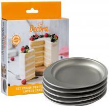Set 5 moldes antiadherentes Layer Cake 15x3,5 cm