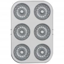 Molde antiadherente donut kugelhopf 6 cav 7,5 cm