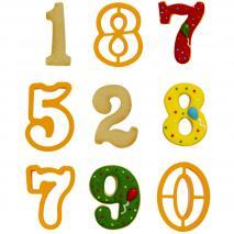 Set 9 talladors galetes Números grans