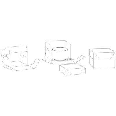 Caja para pasteles blanca 30,5X30,5X15 cm