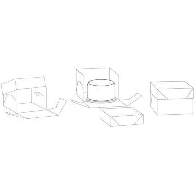 Caja para pasteles blanca 26,5x26,5x25 cm