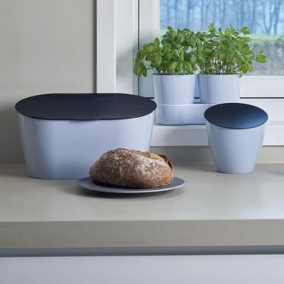 Mini cubo residuo orgánico cocina azul