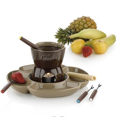 Set Fondue Chocolate con plato divisor 7 p