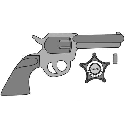 Molde Mona Pascua chocolate Sherif pistola y placa