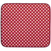 Tapete escurreplatos microfibra 41x46 vichy rojo