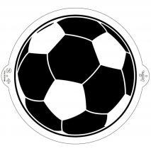 Stencil plantilla Pilota Fútbol 25 cm