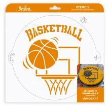 Stencil plantilla Bàsquetball 25 cm