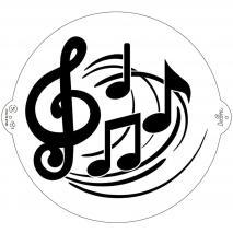 Stencil plantilla Notes Musicals 25 cm