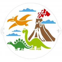 Stencil plantilla Dinosauris 25 cm