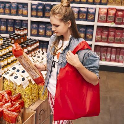 Bolsa compra plegable shopper roja