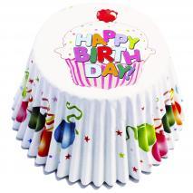 Papel cupcakes metalizados x30 Globos