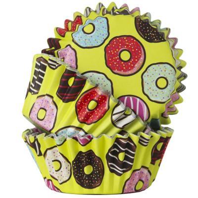 Papel cupcakes metalizados x30 donuts