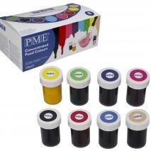 Set 8 Colorantes en pasta PME 25 g