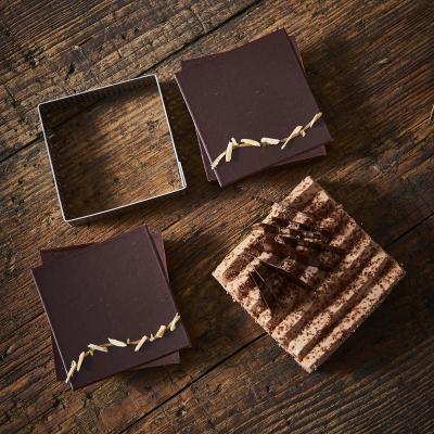 Anillo tarta perforado cuadrado 8x8 cm