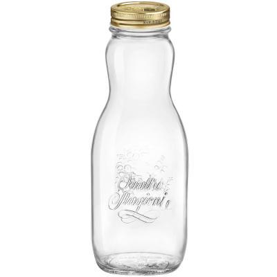 Botella cristal Quattro Stagioni con tapa 1L