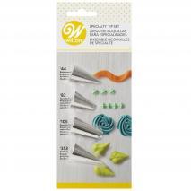 Set 4 boquilles Wilton decoració #44 #83 #105 #353
