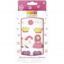 Set 9 decoracions de sucre Princesa