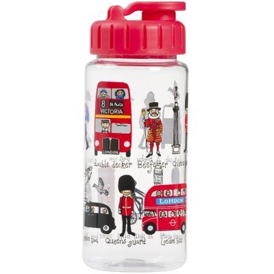 Botella agua con pajita London