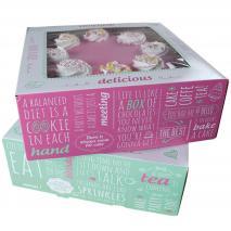 Set 2 caixes per pastissos Quotes 26x26x12 cm